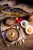 Polish Sour rye soup Stock Photography