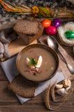 Polish Sour rye soup Royalty Free Stock Photo