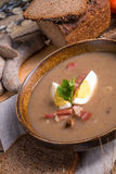 Polish Sour rye soup Royalty Free Stock Image