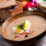 Polish Sour rye soup Royalty Free Stock Photo