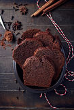 Polish spiced honey cake for Christmas Stock Photography