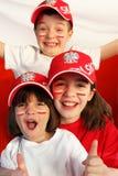 Polish sport fans. Royalty Free Stock Photography