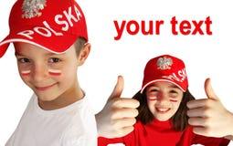 Polish sport fans. Stock Images