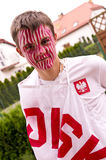Polish sports fan Royalty Free Stock Image