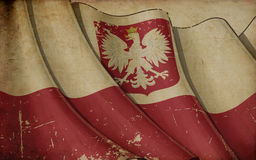 Polish State Flag Old Paper Background Royalty Free Stock Photography