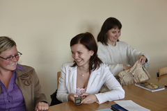 Polish students at final examination Stock Photos