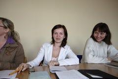 Polish students at final examination Stock Photo