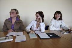 Polish students at final examination Stock Images