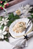 Polish style dumplings filled with sauerkraut and mushrooms. A Polish style dumplings filled with sauerkraut and mushrooms royalty free stock photo