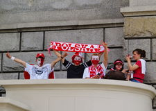Polish Supporters Royalty Free Stock Image