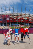 Polish Supporters Royalty Free Stock Photos