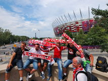 Polish Supporters Royalty Free Stock Photo