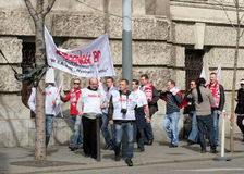 Polish sympathizers in hungary Stock Photography