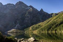 Polish Tatra Mountains. Lake Morskie Oko in the autumn. Royalty Free Stock Images