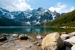 Polish Tatra mountains Morskie Oko lake Stock Image