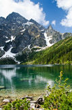 Polish Tatra mountains Morskie Oko lake Royalty Free Stock Image
