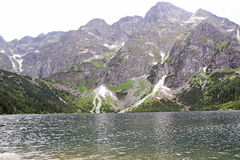 Polish Tatra mountains Morskie Oko lake Royalty Free Stock Photos