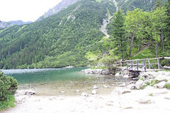 Polish Tatra mountains Morskie Oko lake Stock Photos