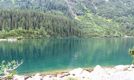 Polish Tatra mountains Morskie Oko lake Stock Images