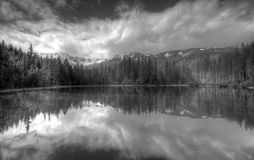 Polish Tatra mountains Smreczynski Staw lake Stock Image