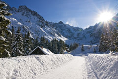 Polish Tatras mountain in winter Stock Photo