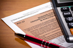 Polish Tax form. Accounting Stock Images
