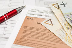 Polish tax form Royalty Free Stock Photography