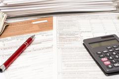 Polish tax form Stock Images