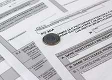 Polish tax form. Royalty Free Stock Images