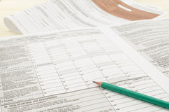 Polish tax form with pencil Royalty Free Stock Photos