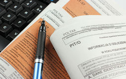 Polish tax form (PIT-36) Stock Photography