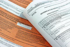 Polish tax form (PIT-36) Stock Image
