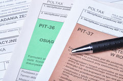 Polish tax forms royalty free stock photo