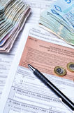 Polish tax forms Royalty Free Stock Image