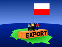 Polish team on container Royalty Free Stock Photography