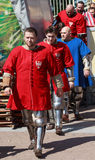 Polish team of knights goes to the official presentation Stock Images
