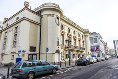 Polish Theatre building in Warsaw, Poland Royalty Free Stock Photos