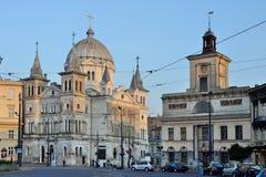 Polish town- Lodz, Poland Royalty Free Stock Images