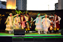 Polish traditional dance stage performance Royalty Free Stock Images