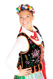 Polish traditional dancer Royalty Free Stock Photography