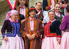 Polish traditional dress Stock Images