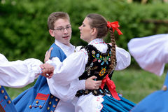 Polish traditional folk dance Stock Photo
