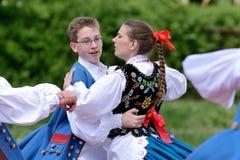 Polish traditional folk dance Stock Photo