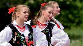 Polish traditional folk dance Royalty Free Stock Images