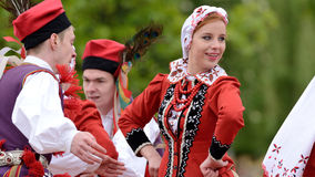 Polish traditional folk dance Royalty Free Stock Image
