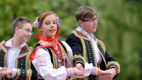 Polish traditional folk dance Royalty Free Stock Photography