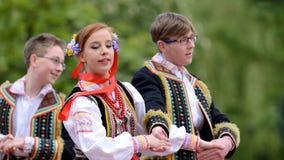 Polish traditional folk dance Royalty Free Stock Photography
