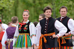 Polish traditional folk dance Stock Image