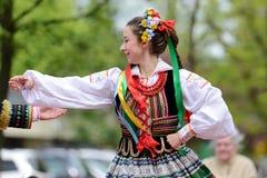 Polish traditional folk dance Stock Photos
