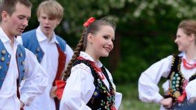 Polish traditional folk dance Stock Images